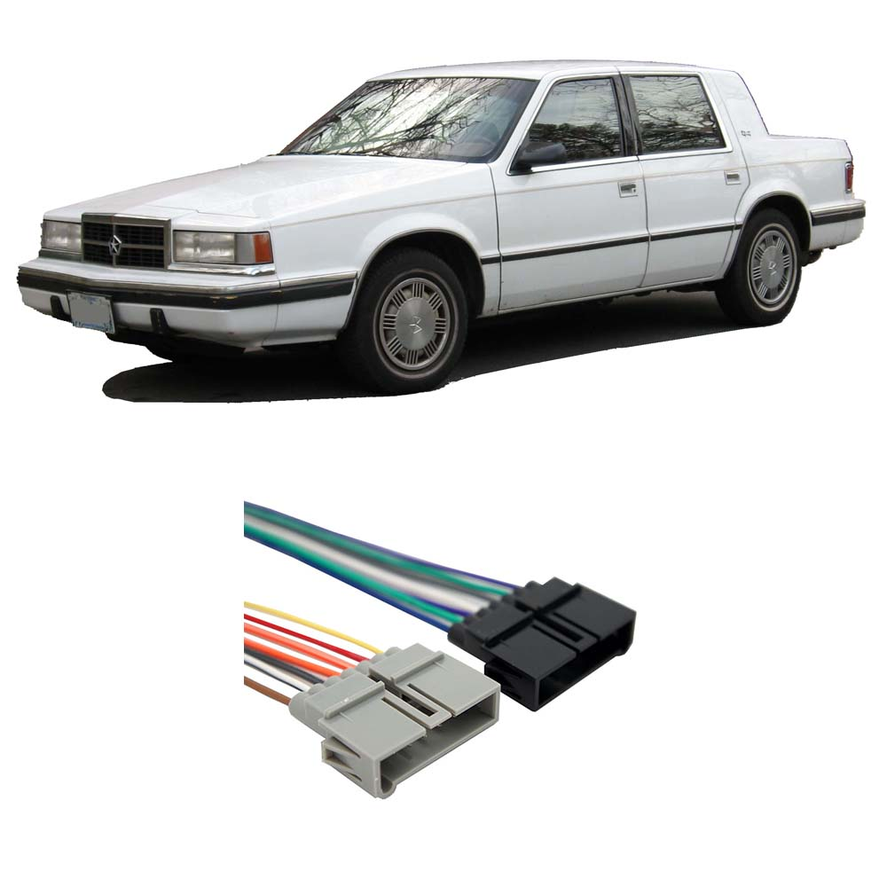 Dodge Dynasty Wiring: Dodge Dynasty 1988-1993 Factory Stereo To Aftermarket