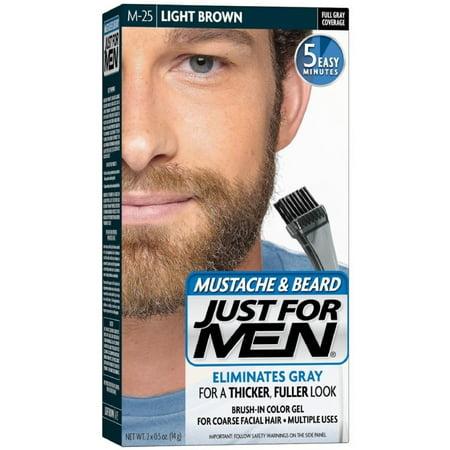 JUST FOR MEN Brush-In Color Gel, Mustache & Beard, M-25 Light Brown 1 ea for $<!---->