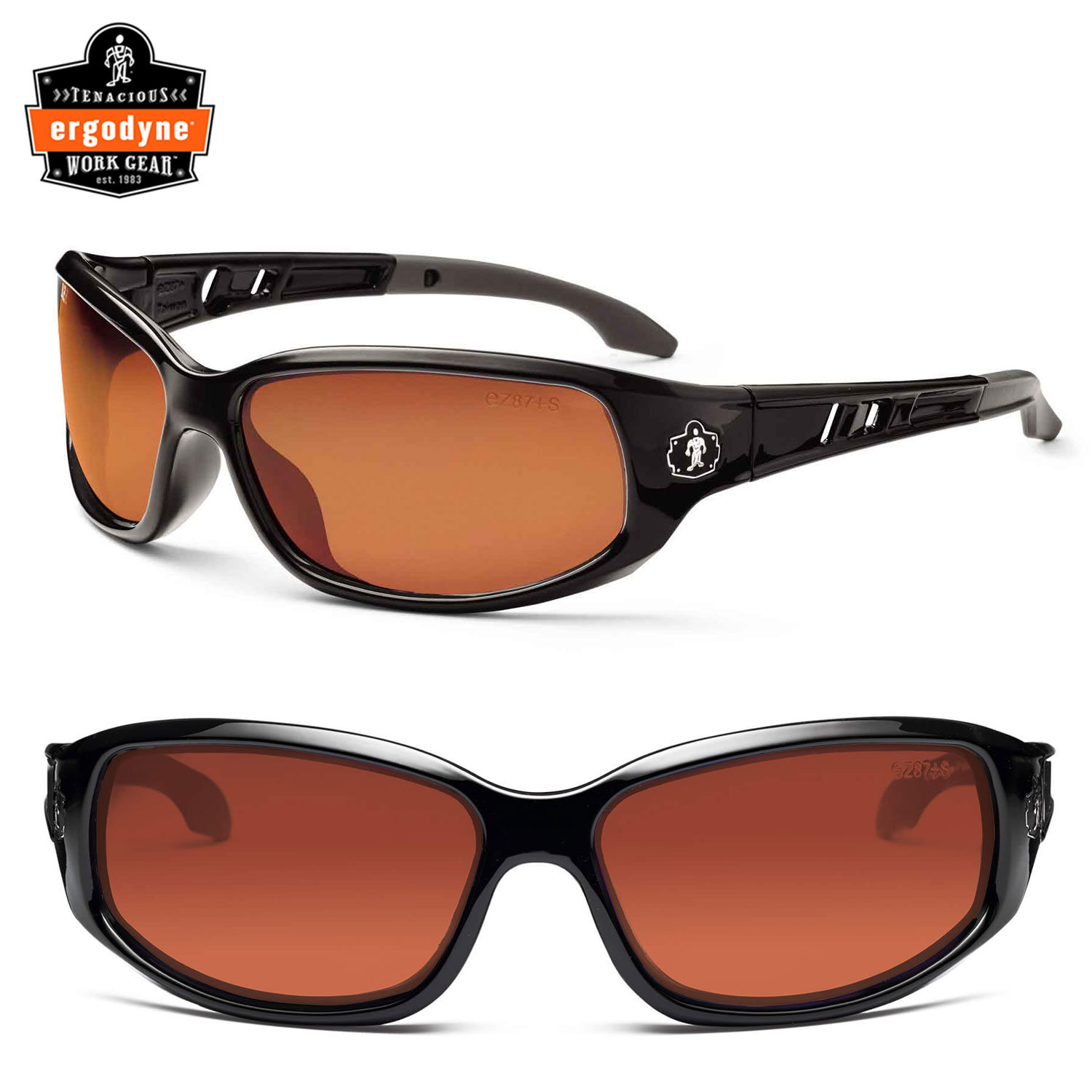 Skullerz Valkyrie Safety glasses with Smoke Polarized Lens and Matte Gray Frame