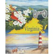 "Virginia State House Flag Virginia is for Lovers Beach Lighthouse Horse 28""x40"""