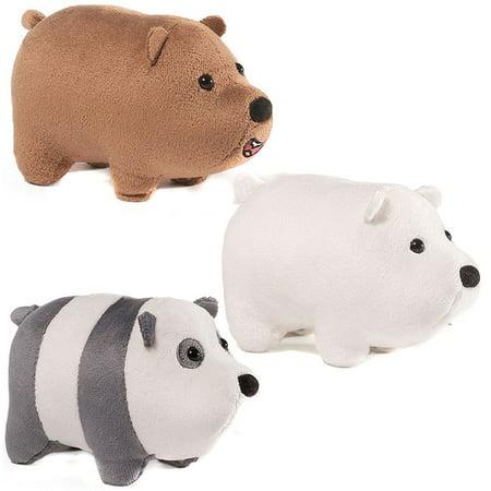 We Bare Bears Panda, Ice Bear & Grizz Set of 3 MINI Plush