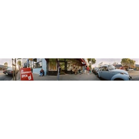 Cars parked in front of a store Haight-Ashbury San Francisco California USA Canvas Art - Panoramic Images (44 x 7) ()