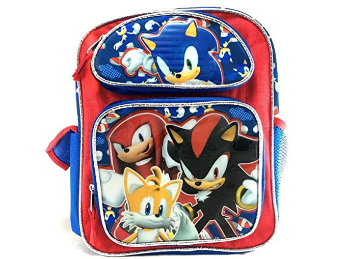 "New Released Sonic Large 16/"" inches School Backpack /& Lunch Box Brand new"