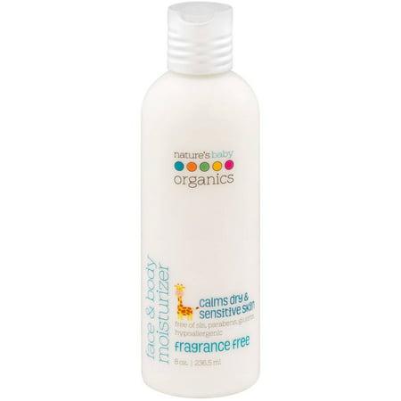 Nature's Baby Organics Face & Body Moisturizer Fragrance Free, 8.0 OZ
