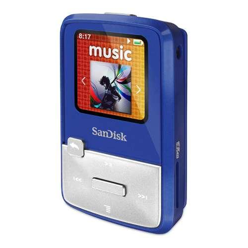 Sansa Clip Zip 4GB MP3 Player, (Assorted Colors)