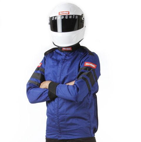RACEQUIP/SAFEQUIP Blue/Black Stripe Large 121 Series Driving Jacket P/N 121025