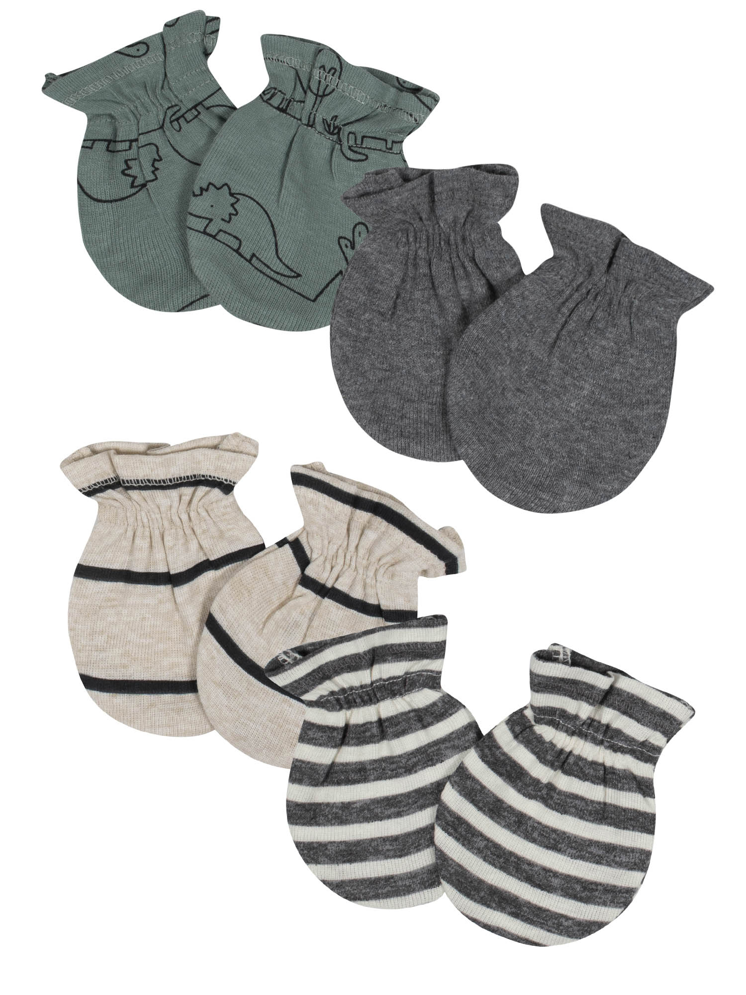 4 Pack No Scratch Mittens 100/% Cotton For Newborn Baby Boys Girls