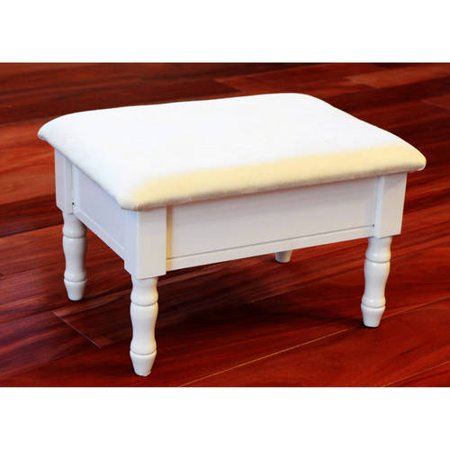 Vanity Footstool - Home Craft Footstool with Storage, Multiple Colors