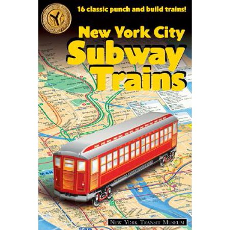 New York City Subway Trains: 12 Classic Punch-And-Build Trains (Paperback) ()