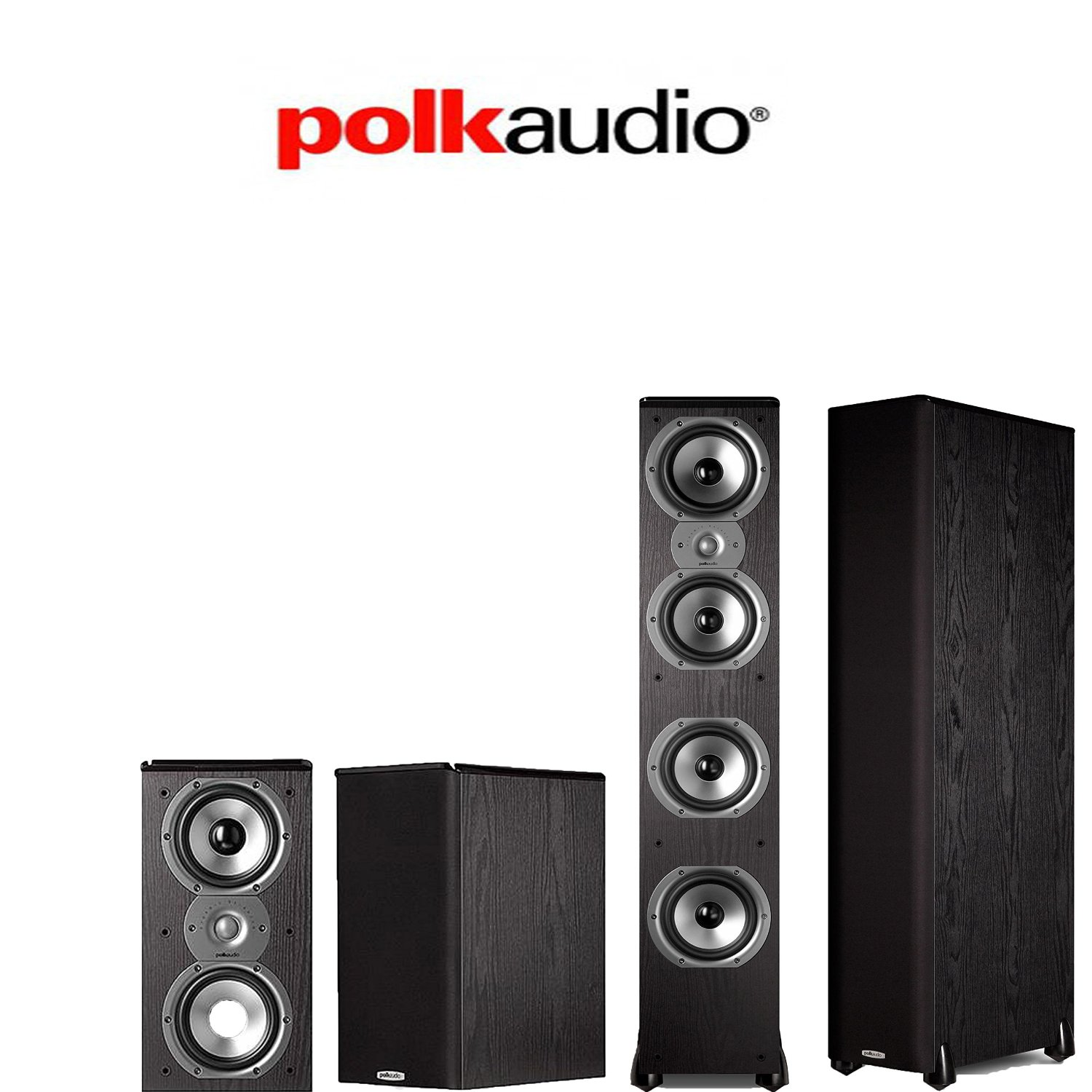 Polk Audio TSi 500 4.0 Home Theater Speaker Package (2) TSi500 + (2) TSi200 by Polk Audio