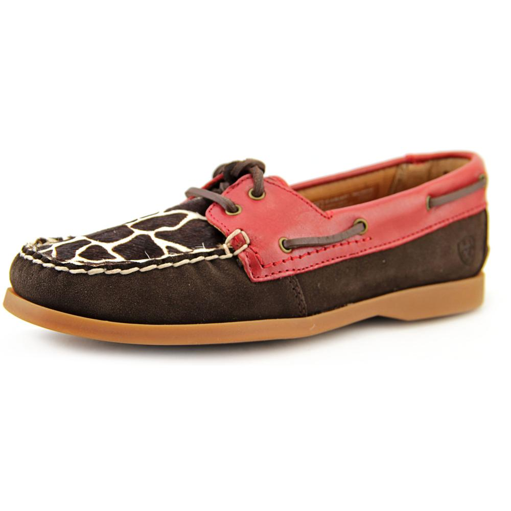 Ariat Palisade   Moc Toe Leather  Boat Shoe