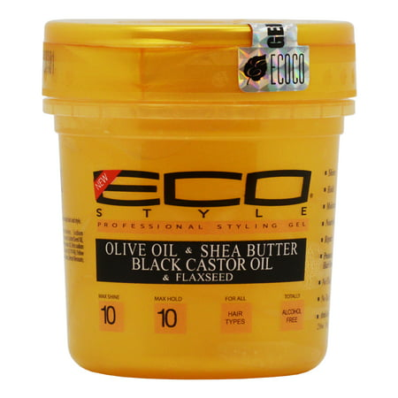Eco Style Gold Gel with Olive Oil & Shea Butter & Black Castor Oil & Flaxseed