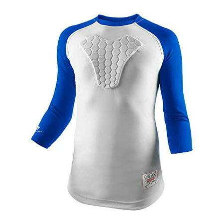 McDavid Youth HEX Sternum Raglan 3/4 Sleeve Shirt (X-Large Royal) - image 1 de 1
