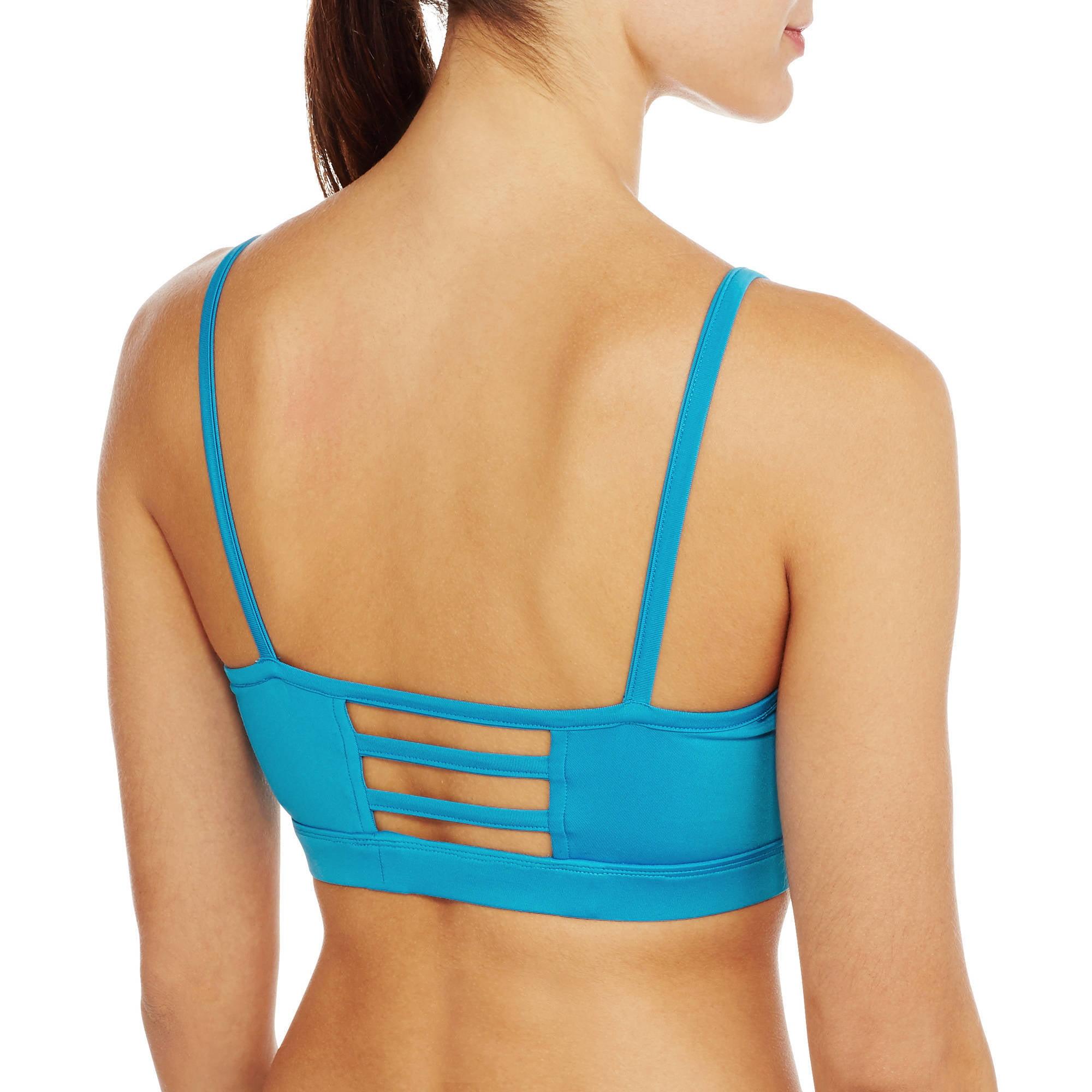 Women's Active Open Back Strappy Sports Bra