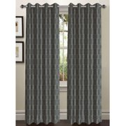 Wesley Faux Silk Grommet Curtain Panels
