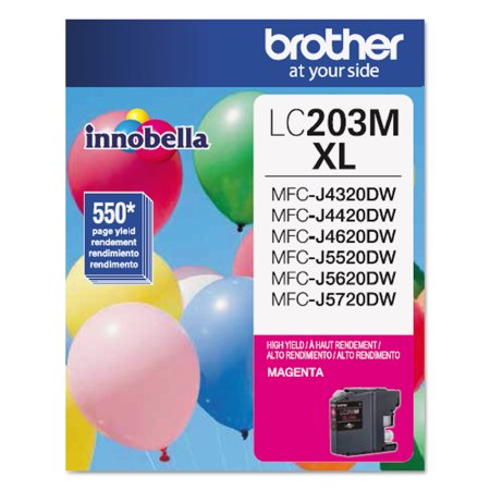 Brother LC203M Innobella High-Yield Ink, Magenta 5000 Magenta Ink