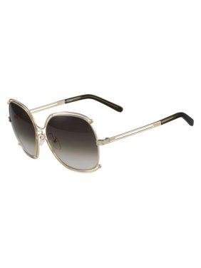 9f223b7e2621 Product Image Chloe CE129S-750-59 Square Women s Gold Frame Grey Lens  Genuine Sunglasses NWT