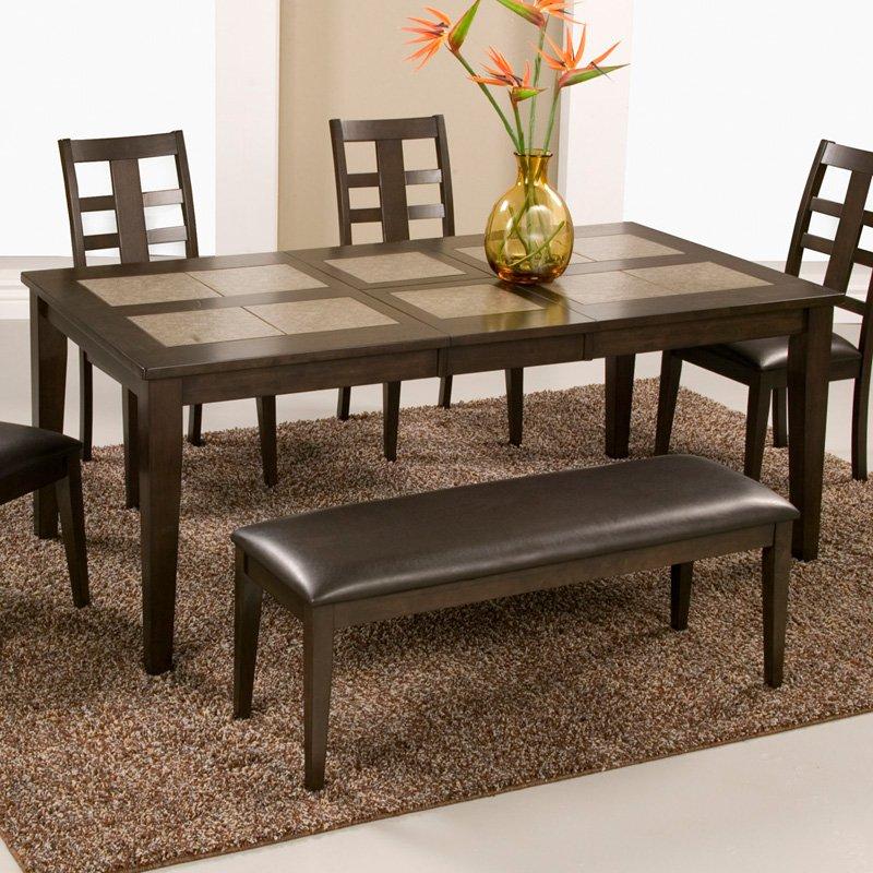 Alpine Furniture Piedmont Dining Table - Dark Walnut
