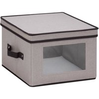 Mainstays Natural Canvas Medium Window Storage Box, Gray