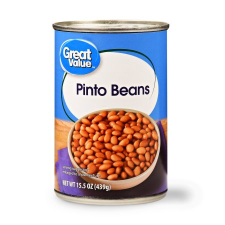 (2 Pack) Great Value Pinto Beans, 15.5 oz, 4 - Bulk Beans Pin To Beans