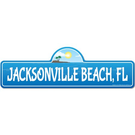 Jacksonville, FL Florida Beach Street Sign | Indoor/Outdoor | Surfer, Ocean Lover, Décor For Beach House, Garages, Living Rooms, Bedroom | Signmission Personalized Gift](Party Shop Jacksonville Fl)