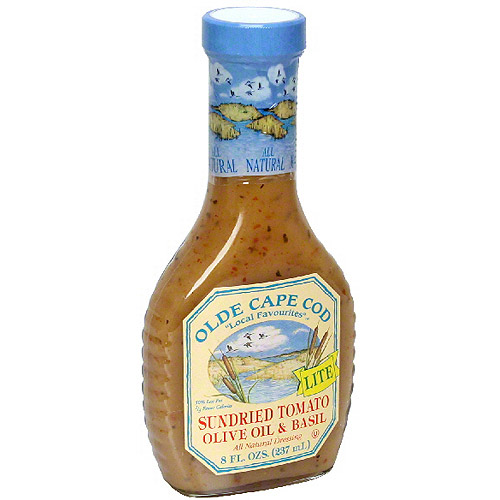 Olde Cape Cod Olive Oil & Basil Sun Dried Tomato Vinaigrette & Marinade Dressing, 8 oz (Pack of 6)