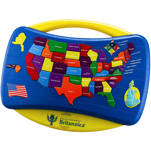 Encyclopedia Britannica Talking USA MAP Puzzle Learning Aid