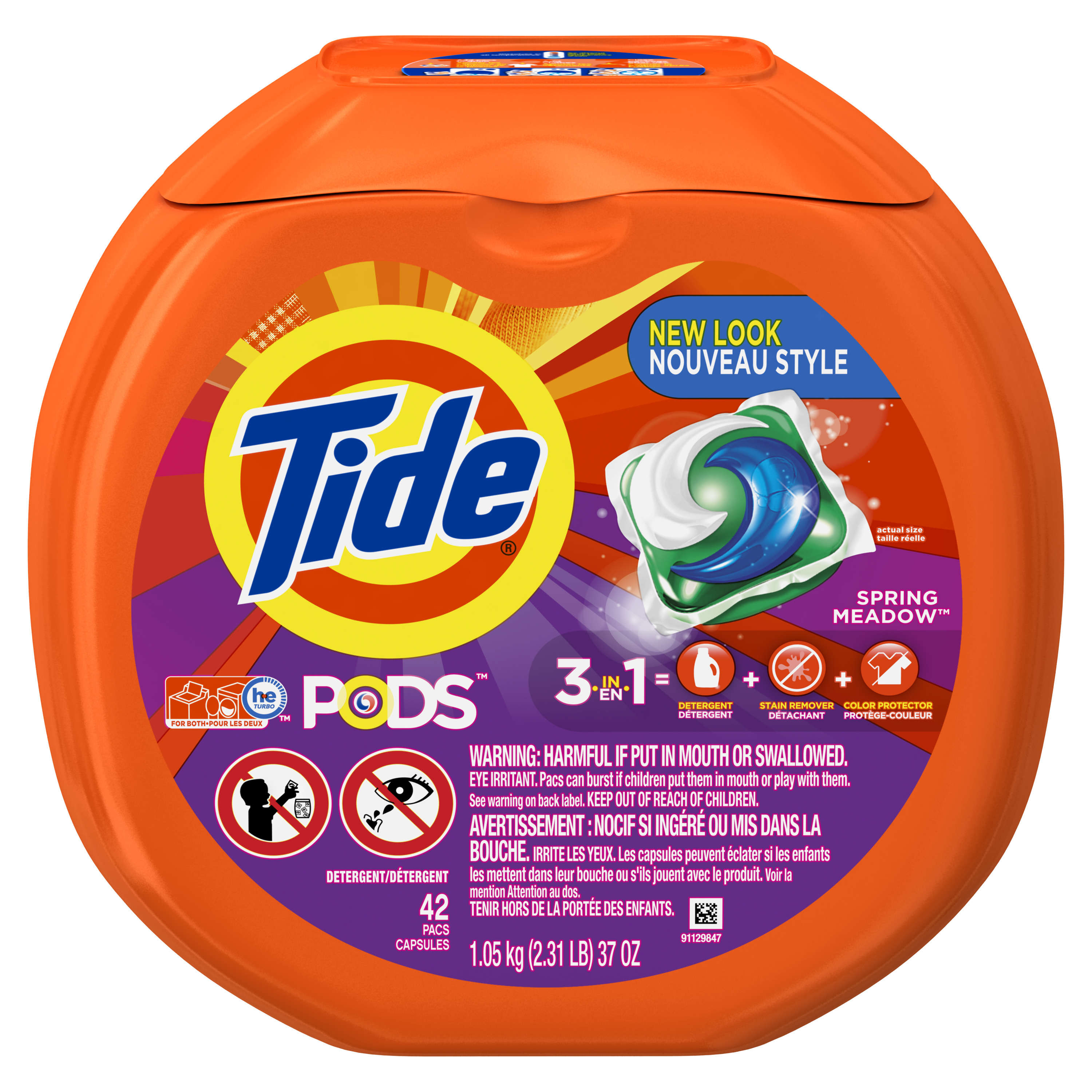 Tide PODS Laundry Detergent Pacs, Spring Meadow Scent, 42 Count