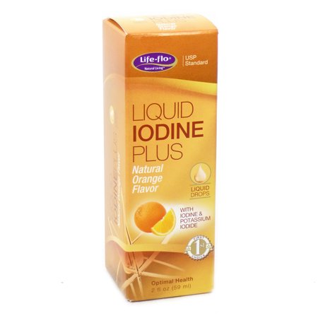 Liquide iode plus orange par Life Flo - 2 Onces liquides