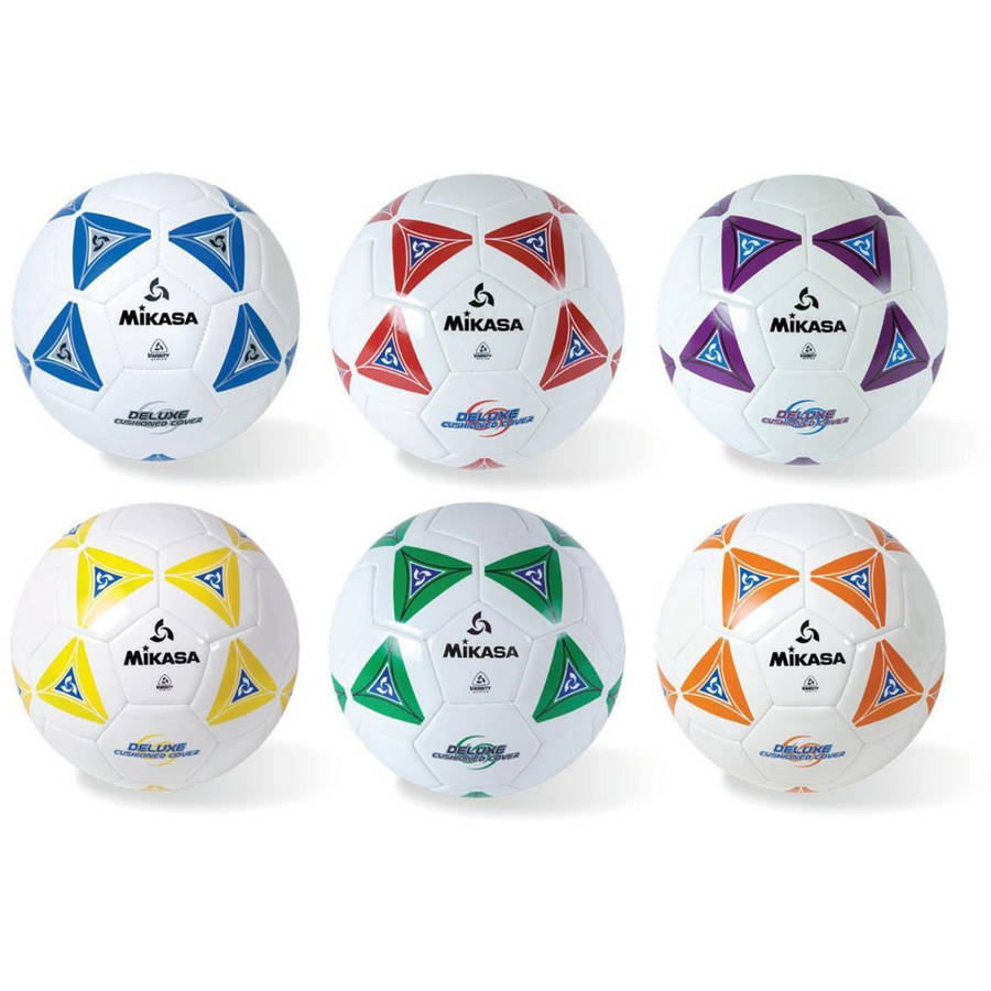 Mikasa Soft Soccer Ball Sets, Set of 6, Size 4
