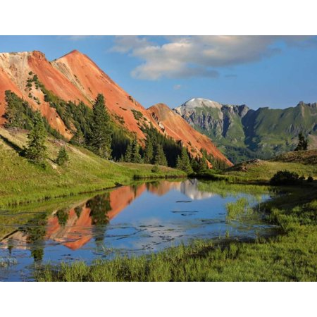Red Mountain gets its color from iron ore in the rock, Gray Copper Gulch, Colorado Poster Print by Tim (Best Way To Get Copper)