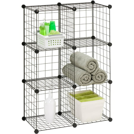 Honey Can Do Steel Modular Mesh Storage Cube Multiple Colors Pack Of 6