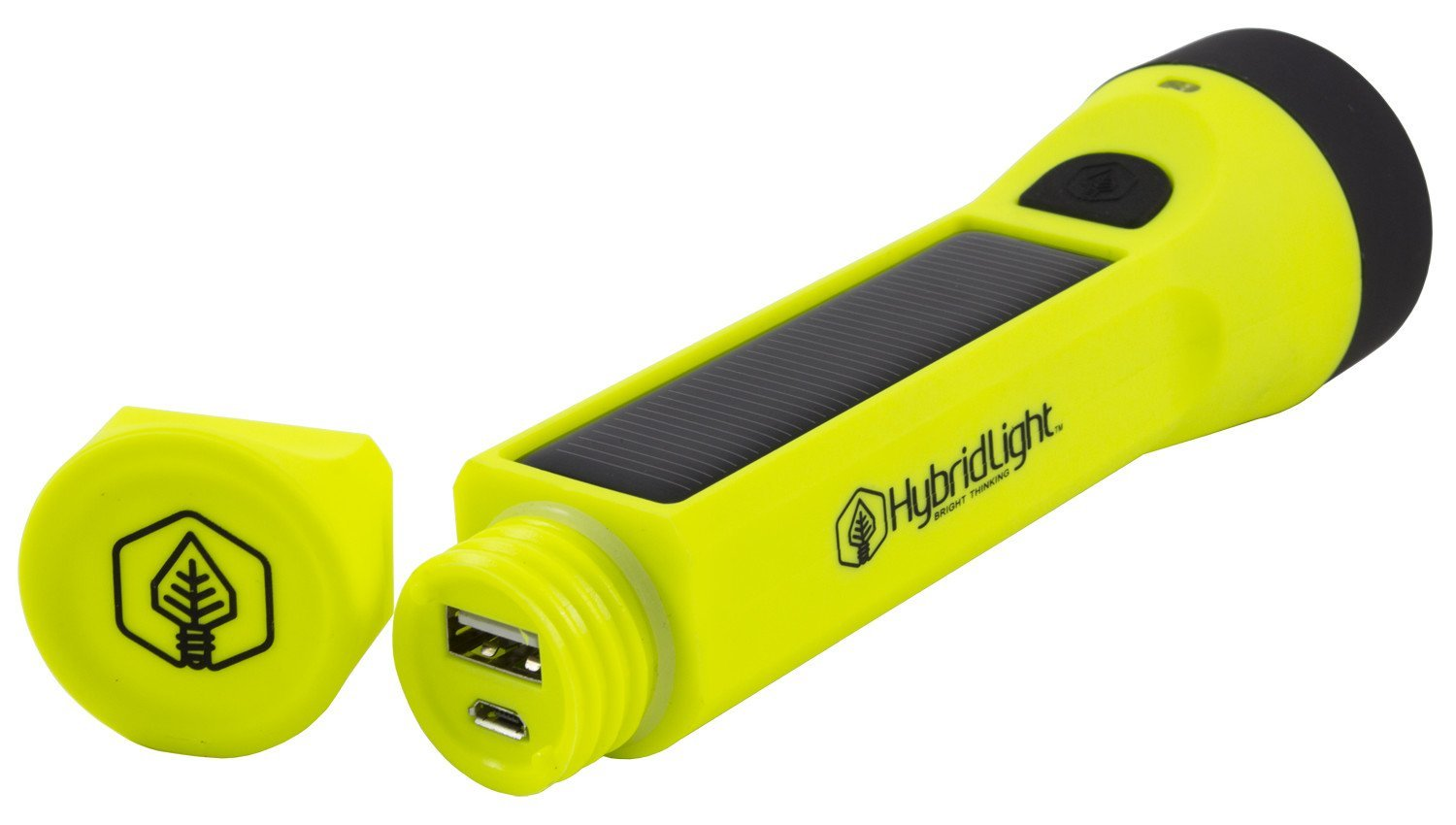 Hybridlight Journey Solar Rechargeable 160 Lumen Led Waterproof Flashlight High Low Beam Usb Cell Phone Charger Built In Panel Charges