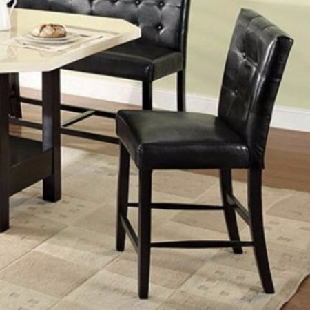 Contemporary Corner Pub Chair With Black (Cal Foam) Black Finish