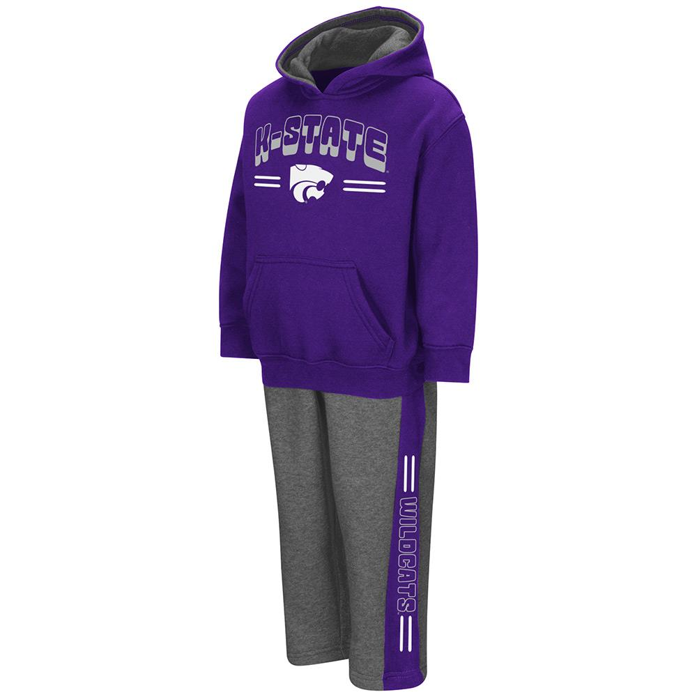 Toddler NCAA Kansas State Wildcats Boys Punter Fleece Hoodie and Sweatpants Set (Team Color) by Colosseum
