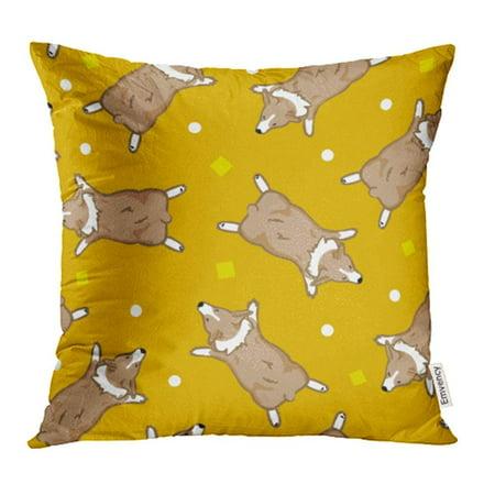 CMFUN Brown Animal Welsh Pembroke Corgis Orange Cartoon Character Collection Cute Dog Pillowcase Cushion Cases 20x20 - Pembroke Collection