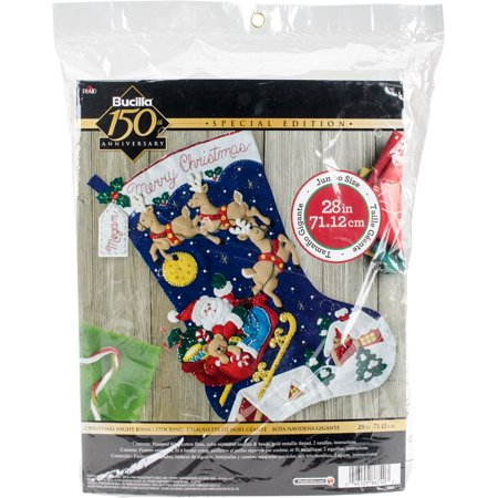Bucilla Felt Jumbo Stocking Applique Kit 28