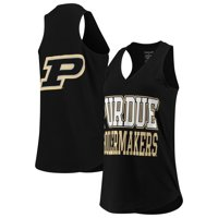 Purdue Boilermakers Women's Two-Hit At Ease V-Neck Tank Top - Black