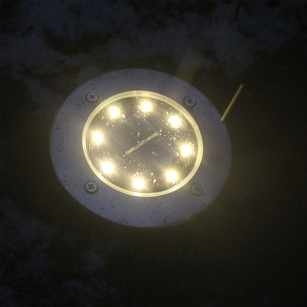 8PC 8LED Solar Power Buried Light Under Ground Lamp Outdoor Path Way Garden
