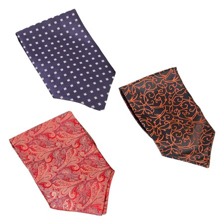 Bundle Monster 3pc Mix Pattern Mens High Class Fashion Fancy Ascot Cravat Ties