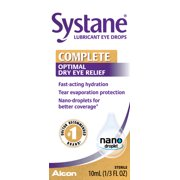 Systane Complete Dry Eye Care Symptom Relief Eye Drops, 10 ml