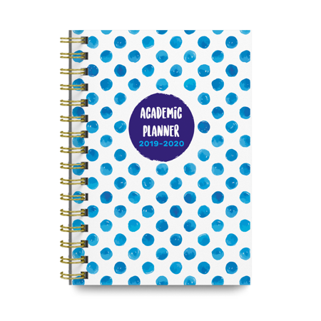 Polka Dots 2019-2020 Academic Monthly and Weekly Planner Cute College Agenda