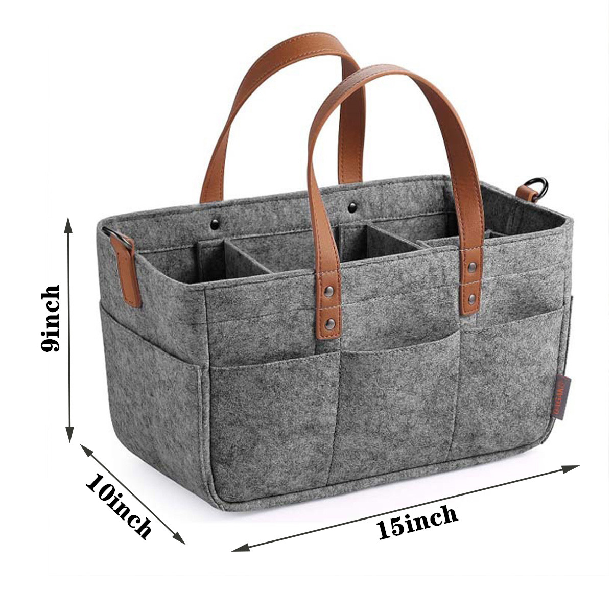 Portable Diaper Caddy Organiser Baby Nappy Storage Outdoor Basket Wipes Tote Bag