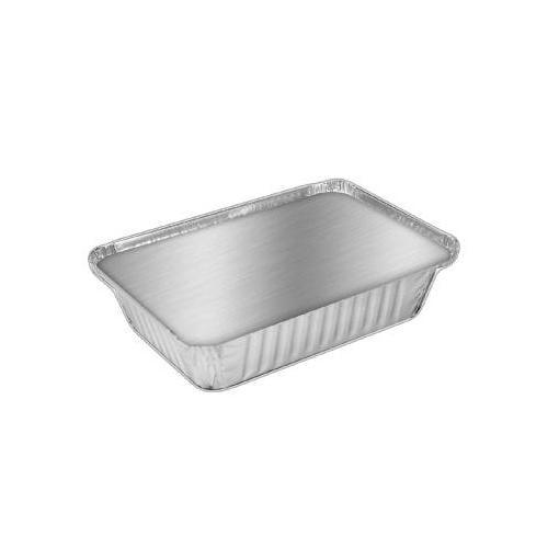 Handi-foil Aluminum Oblong Container With Lid, 36 Oz, 8-7/16 X 5x 1-13/16 HFA...