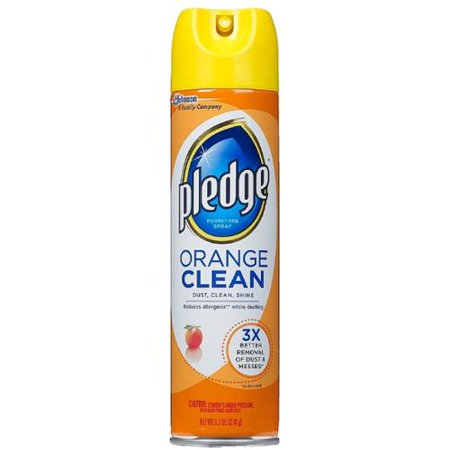 Pledge Orange Clean Furniture Spray Oz Pack Of 6