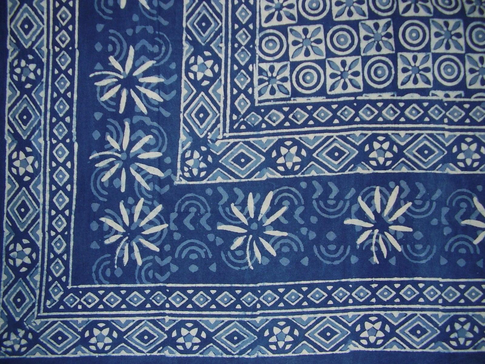 "Batik Tapestry Cotton Bedspread 108/"" x 88/"" Full-Queen Blue"