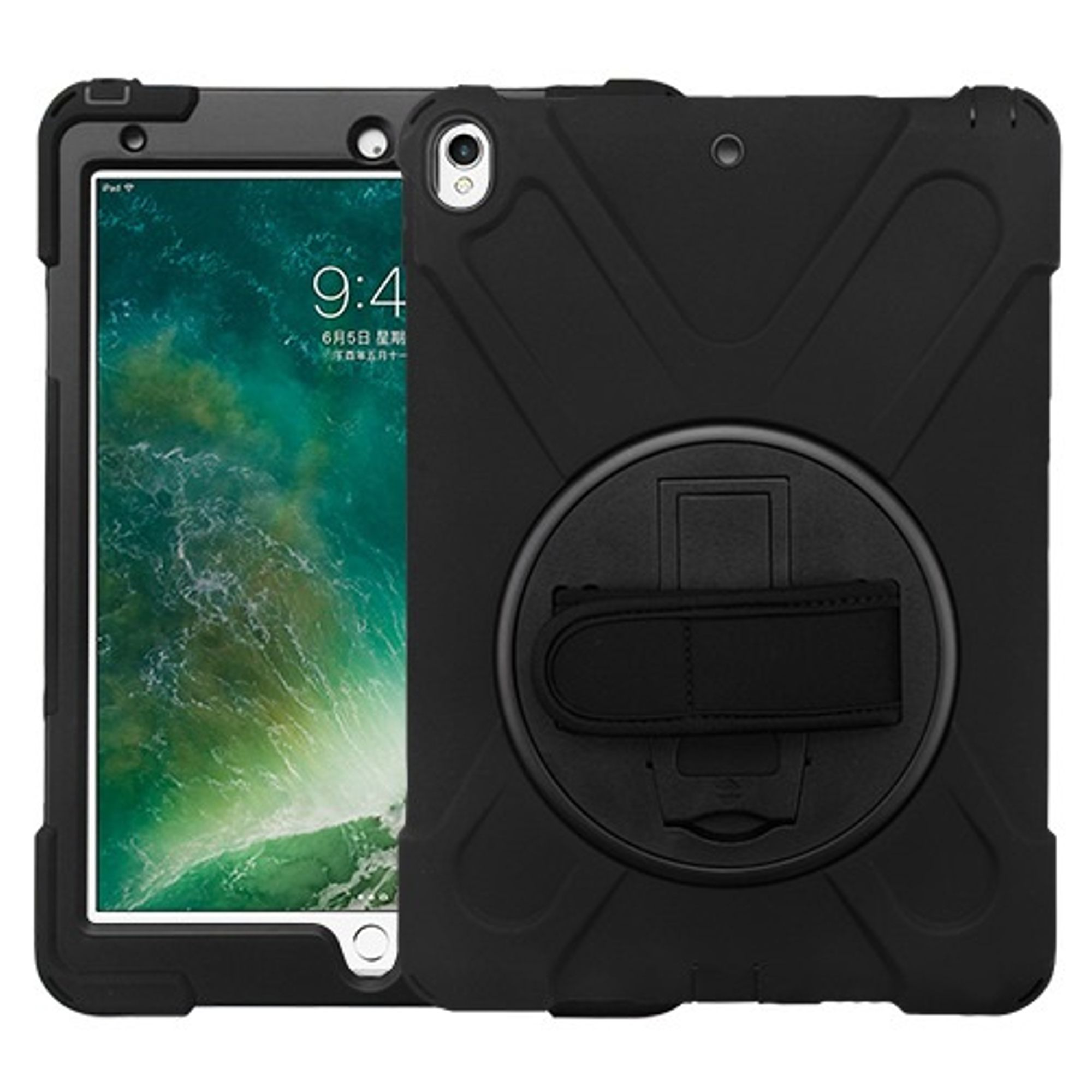 "Insten Dual Layer Hybrid Stand PC/TPU Rubber Case Cover for Apple iPad Pro 10.5"" - Black"