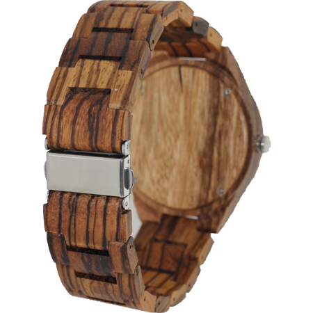 Angie Wood Creations Zebrawood Men's Watch with Zebrawood Band and Bamboo Dial - image 5 de 7