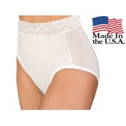 6-Pack Wearever Women's Lace Trim and Cotton Incontinence Panties - Washable Reusable Bladder Control Underwear - Pack of 6