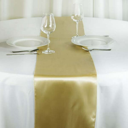 Efavormart Premium SATIN Table Top Runner For Weddings Birthday Party Banquets Decor Fit Rectangle and Round Table 12